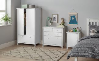 An Image of Habitat Scandinavia 3 Piece 2 Door Wardrobe Set White
