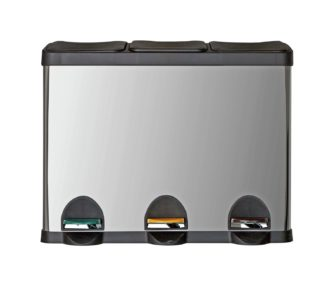 An Image of Argos Home 45 Litre Triple Compartment Recycling Bin