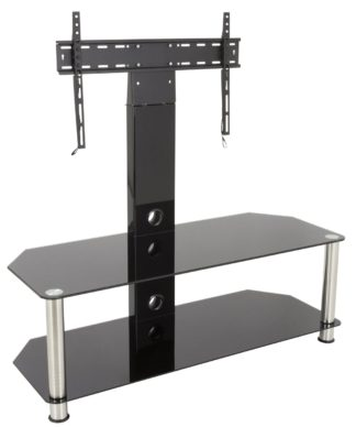 An Image of AVF Classic Up to 65 Inch Glass TV Stand - Black