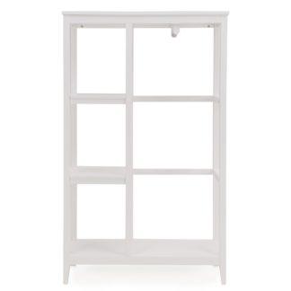 An Image of Lynton Compact White Open Wardrobe White