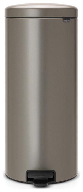 An Image of Brabantia New Icon 30 Litre Bin - Platinum