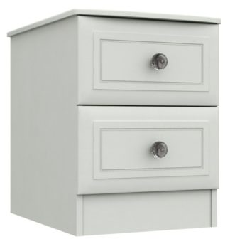 An Image of Rendlesham 2 Drawer Bedside Table - White