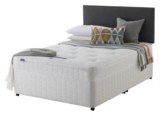 An Image of Silentnight Miracoil Travis Ortho Kingsize Divan Bed - White