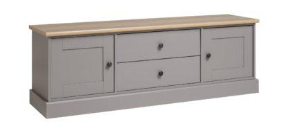 An Image of Habitat Winchester 2 Door 2 Drawer TV Unit - Grey