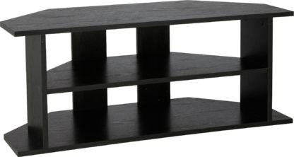 An Image of Habitat Corner TV Unit - Black Effect