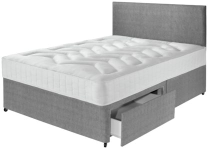 An Image of Argos Home Elmdon Deep Ortho 2 Drawer Divan - Small Double