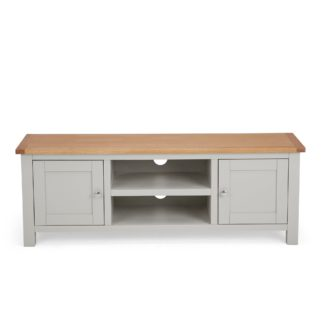 An Image of Bromley Grey Wide TV Stand Grey