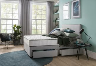 An Image of Silentnight Pavia Memory 4 Drawer Grey Divan - Small Double