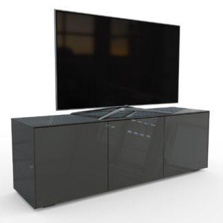 An Image of Frank Olsen Smart LED 3 Door Large TV Unit - Grey