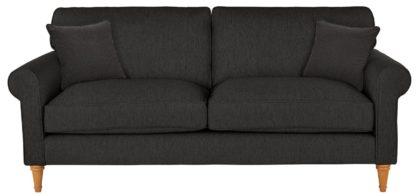 An Image of Habitat William 3 Seater Fabric Sofa - Charcoal