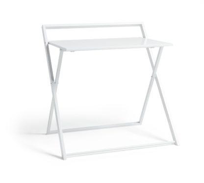 An Image of Habitat Compact Folding Office Desk - White