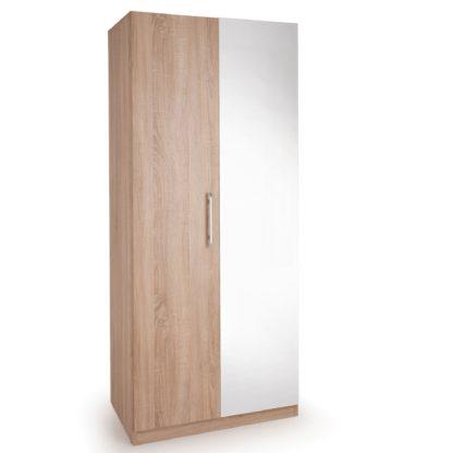 An Image of Holborn 2 Door Wardrobe Natural