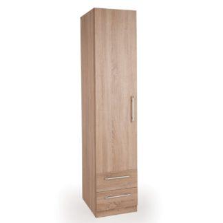 An Image of Holborn 1 Door 2 Drawer Wardrobe Natural