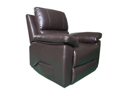 An Image of Argos Home Toby Faux Leather Rise & Recline Chair -Chocolate