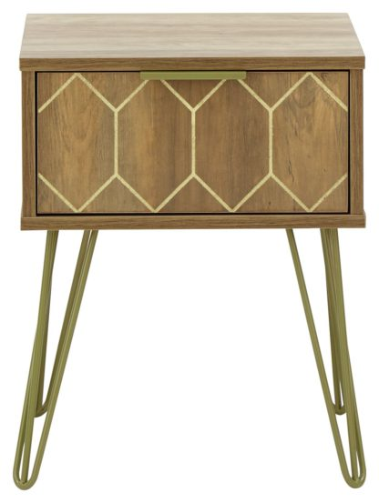 An Image of Orleans Lamp Table - Mango Wood Effect