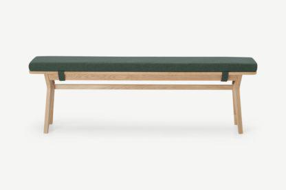 An Image of Jenson Dining Bench, Bay Green & Oak