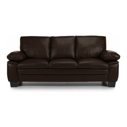 An Image of Texas 3 Seater Bonded Leather Sofa Black