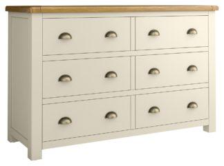 An Image of Habitat Kent 3+3 Drawers - Cream & Oak