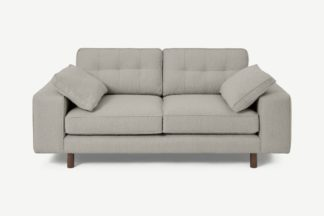 An Image of Content by Terence Conran Tobias 2 Seater Sofa, Dove Grey Boucle with Dark Wood Leg