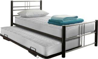 An Image of Argos Home Atlas Metal Guest Bed - Black