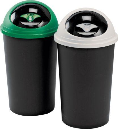 An Image of Tontarelli 25 Litre Recycle Bin Twin Set