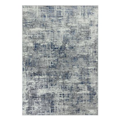 An Image of Asiatic Orion Shiny Rectangle Rug - 80x150cm - Blue & Grey