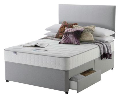 An Image of Silentnight Middleton 800 PKT Comfort 2DRW Grey Small DBL