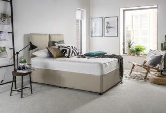 An Image of Silentnight Hatfield Memory Foam Double Divan Bed - Sand