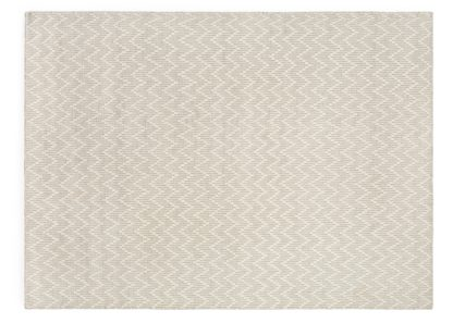 An Image of Linie Design Shimla Rug White and Steel 170 x 240cm