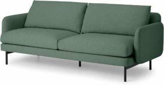 An Image of Miro 3 Seater Sofa, Bay Green