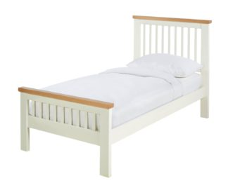 An Image of Argos Home Aubrey Single Bed Frame - Two Tone