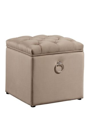 An Image of Antoinette Storage Ottoman - Taupe