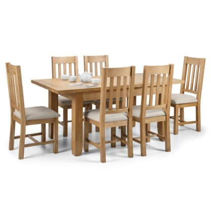 An Image of Astoria Extending Dining Table with 6 Hereford Chairs Oak