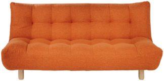 An Image of Habitat Kota 3 Seater Fabric Sofa Bed - Orange