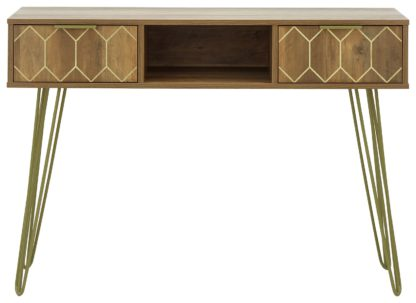 An Image of Orleans 2 Drawer Console Table - Mango Wood Effect