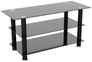 An Image of AVF Glass up to 50 Inch TV Stand - Black