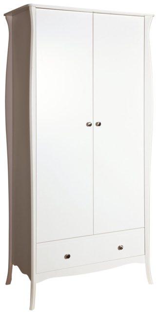 An Image of Amelie 2 Door 1 Drawer Wardrobe - White