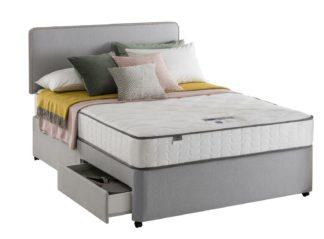 An Image of Silentnight Pavia Comfort 2 Drawer Grey Divan - Kingsize