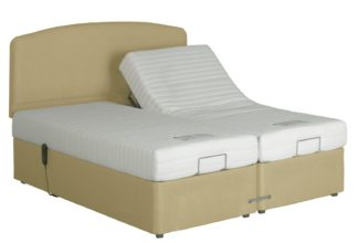 An Image of MiBed Lerwick Adjustable Kingsize Bed with Memory Mattress