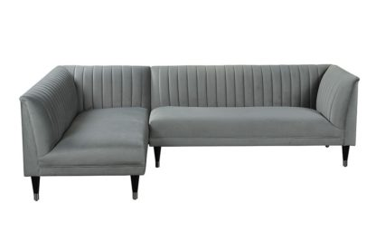 An Image of Baxter Left Hand Corner Sofa – Dove Grey