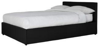 An Image of Habitat Lavendon Ottoman Small Double Bed Frame - Black