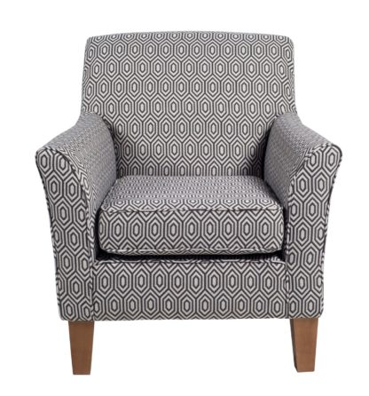 An Image of Argos Home Soren Fabric Accent Chair - Charcoal