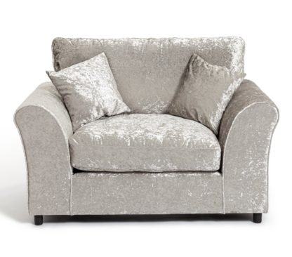 An Image of Argos Home Megan Fabric Cuddle Chair - Silver
