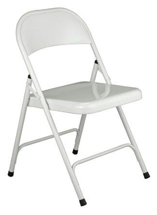 An Image of Habitat Macadam Metal Folding Chair - White