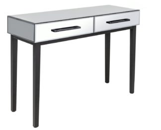 An Image of Argos Home Palm Luxe 2 Drawer Dressing Table Set - Mirrored