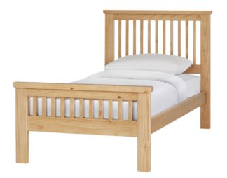 An Image of Argos Home Aubrey Single Bed Frame - Oak Stain