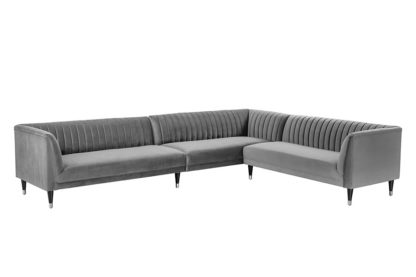 An Image of Baxter Large Right Hand Corner Sofa - Dove Grey