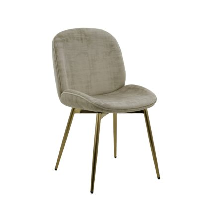 An Image of Blair Chair Mink Distressed Velvet Brown