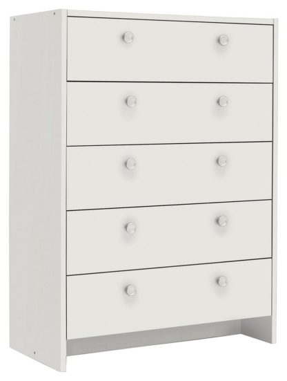 An Image of Argos Home Seville 5 Drawer Chest of Drawers - Oak Effect