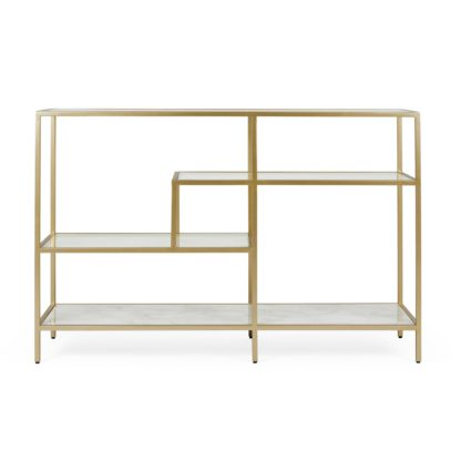 An Image of Claudia Gold Effect Console Table Gold